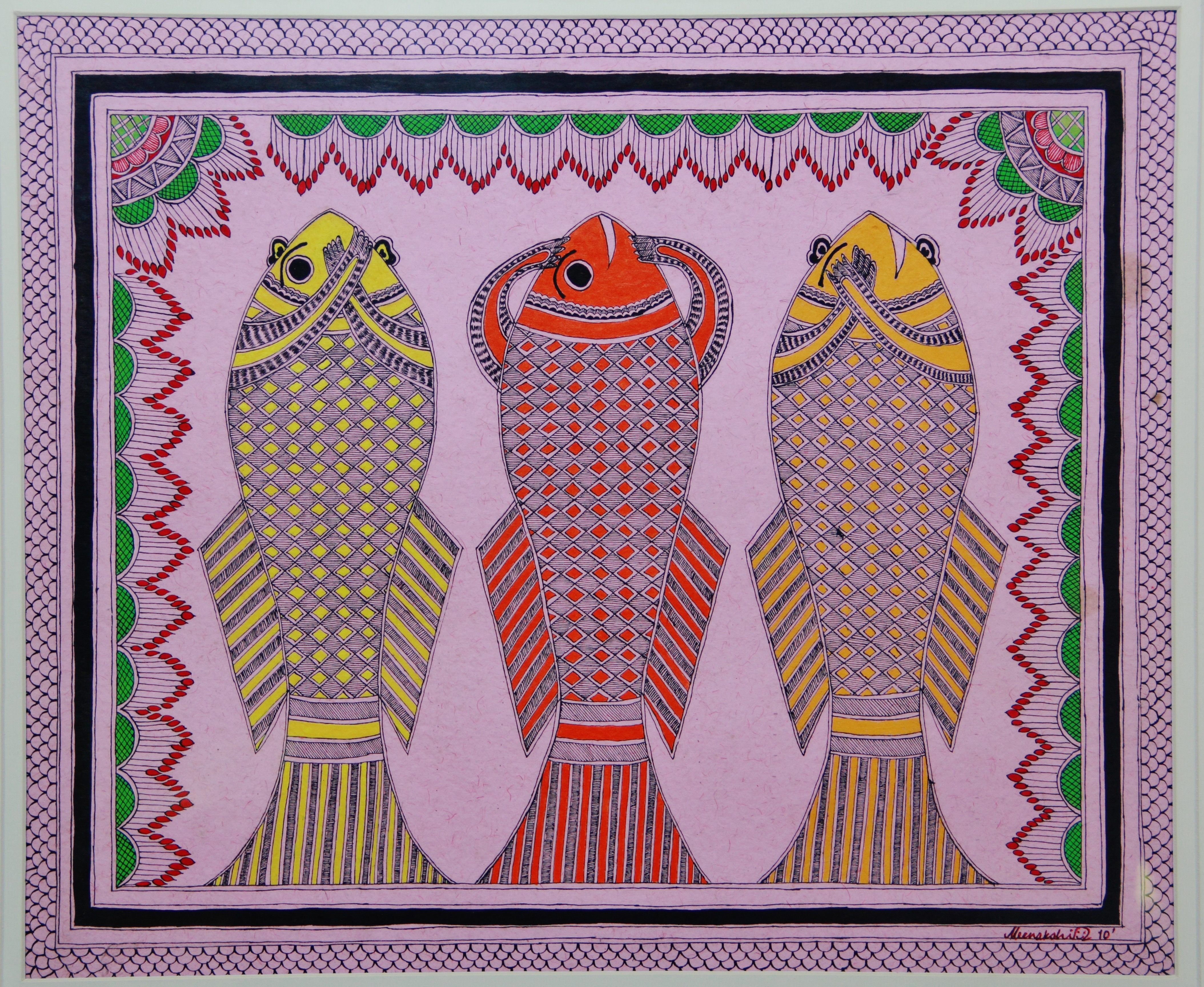 One of the earliest works in Madhubani Style.